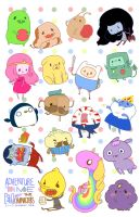 FAN ART: Adventure Time Stickers I by tenshiimeii