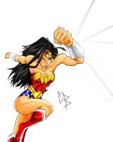 Wonder Woman Sprint colored by BLIX007