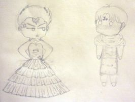 YYH Chibi Sketch by MazokuCreations