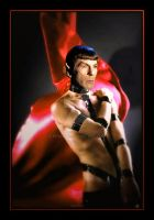 Base Red Leather Bondage Spock #2x by spock2u