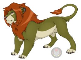 Final for Lion Lineart by CreatureCreatingBabe