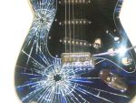 Smashed glass electric Guitar by Joel-Wade