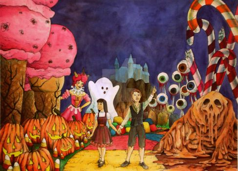 Candyland: Halloween by LaughingFish