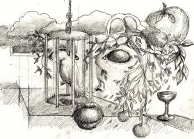 Caged Sketch by Larainjp
