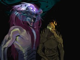 conceptual Sauron and Melkor by SalmVil