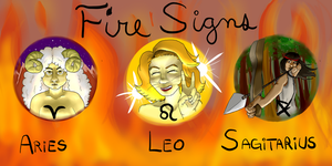 Fire signs (Astrology) by Kitsune-Valhalla