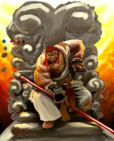 Monkey king trone by Ntocha