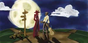 Robert Johnson's Crossroads by PlaidTidings
