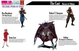 Ninja GAIDEN II Book -cast by Hellstinger64