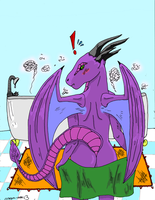 dragoness bath colored by dragon-man13