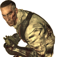 NZ:Richtofen in a space suit with a Claymore by Josael281999