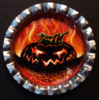 Furious Bottle Cap Monster by Mr-Mordacious