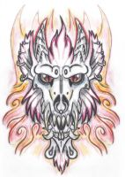Werewulf Demon Tattoo Design 1 by The-Monstrum