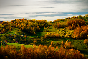 Autumn landscape by GrauWeiss