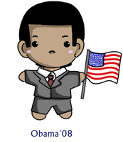 Obama chibi by sakura02