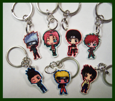 Naruto Charm Keychains by IcyPanther1