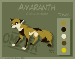 Amaranth - Character Sheet by Skailla