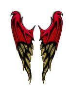 Demon to angel wings  tattoo by Derrabe80