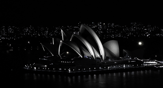 Sydney Opera House at Night by Galaxianista