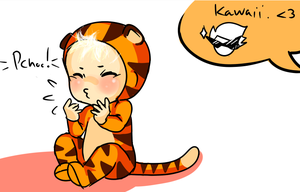 Suddenly kawaii Dave by Perinel