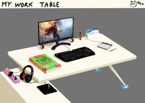 My Work Table by Wolfie71