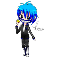 [Drawing/Dibujo] Damien CHIBI [Gift+300Watch] by BekaChan11