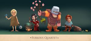 Furious quartet by Rheann