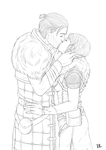 Lineart: Anders and Sybil by VelvetRue