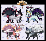 Foxfan Halloween Batch 1 // 4/4 CLOSED! by Belliko-art