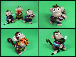 Sport Monkeys by DragonsAndBeasties
