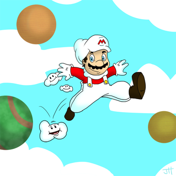 Cloud Mario by T3hJake