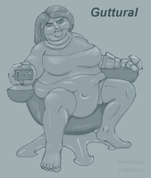 Fat female superhero by HareTrinity