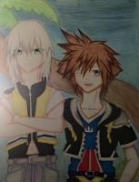 Photograph of Sora and Riku by AnimeMangaArtist0101