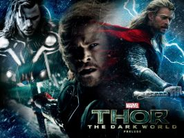 Thor/ The Dark World Wallpaper by Schoggii
