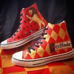 Gryffindor Painted Sneakers by SpiderwickMystery