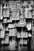 the chained faces by MaryLugosi
