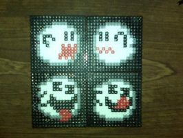 mario ghost coasters by diygirl
