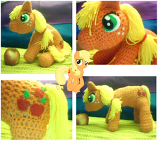 Apple Jack Handcrafted Amigurumi Doll by 15cocopuffs