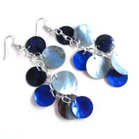Mythical Scale Earrings in Lapis Lazuli by WildeMoon