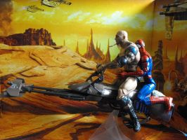 On a speeder bike built for two... by BlizzAz