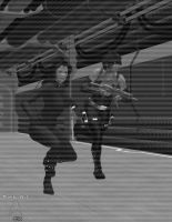 Enemy Territory-interference-BW by TrekkieGal