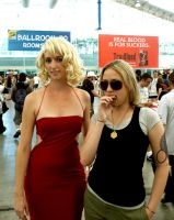 Six and Starbuck at SDCC '08 by bijoyuna