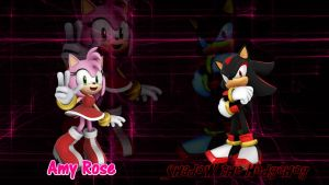Shadow and Amy - Wallpaper(requested) by Knuxy7789