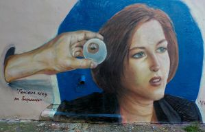 He has his eye on the girl by daxgraffiti