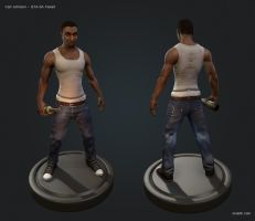 GTA - Carl Johnson 3D Fanart by OniLolz