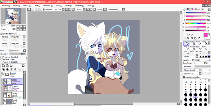 Wip! Art Trade (? by adventurepainter18