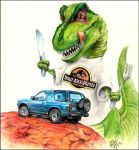 Rex and Lunch by otas32
