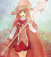 Rose Witch TinierMe Commission by brioche-of-destiny