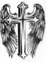Wings with cross by 7fredka7