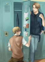 Locker [UsUk/APH] by RavenMushroom